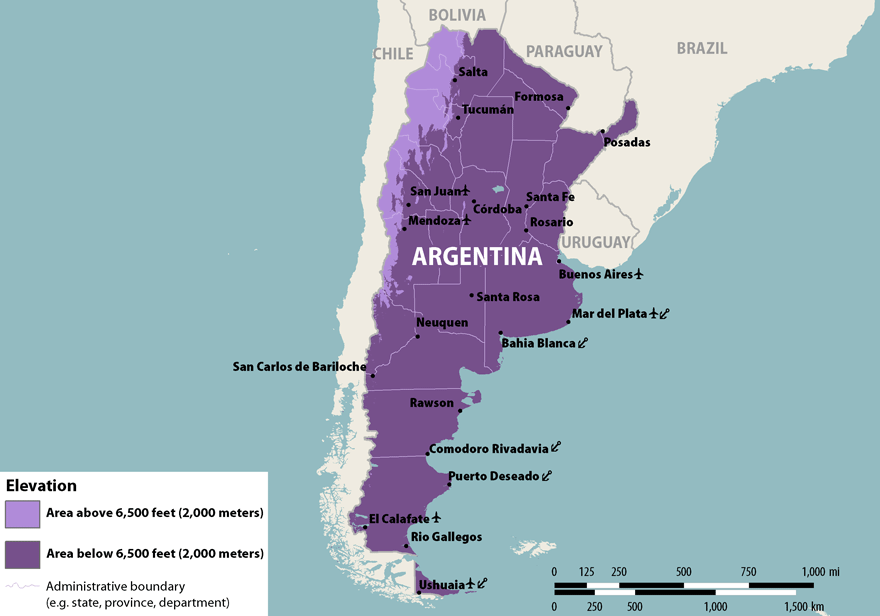 NaTHNaC Argentina - Argentina map natural resources