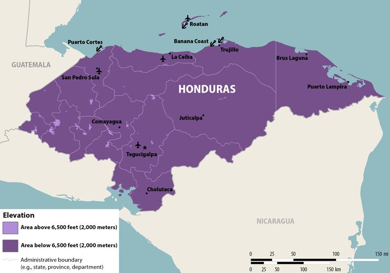 Nathnac honduras zika map honduras sciox Gallery