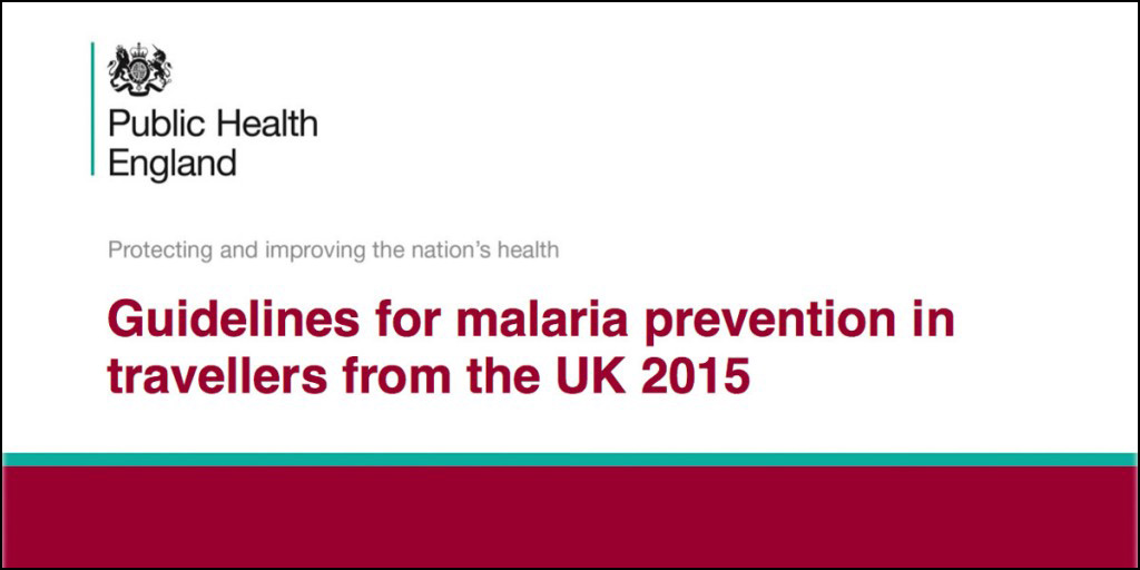 UK malaria prevention guidelines