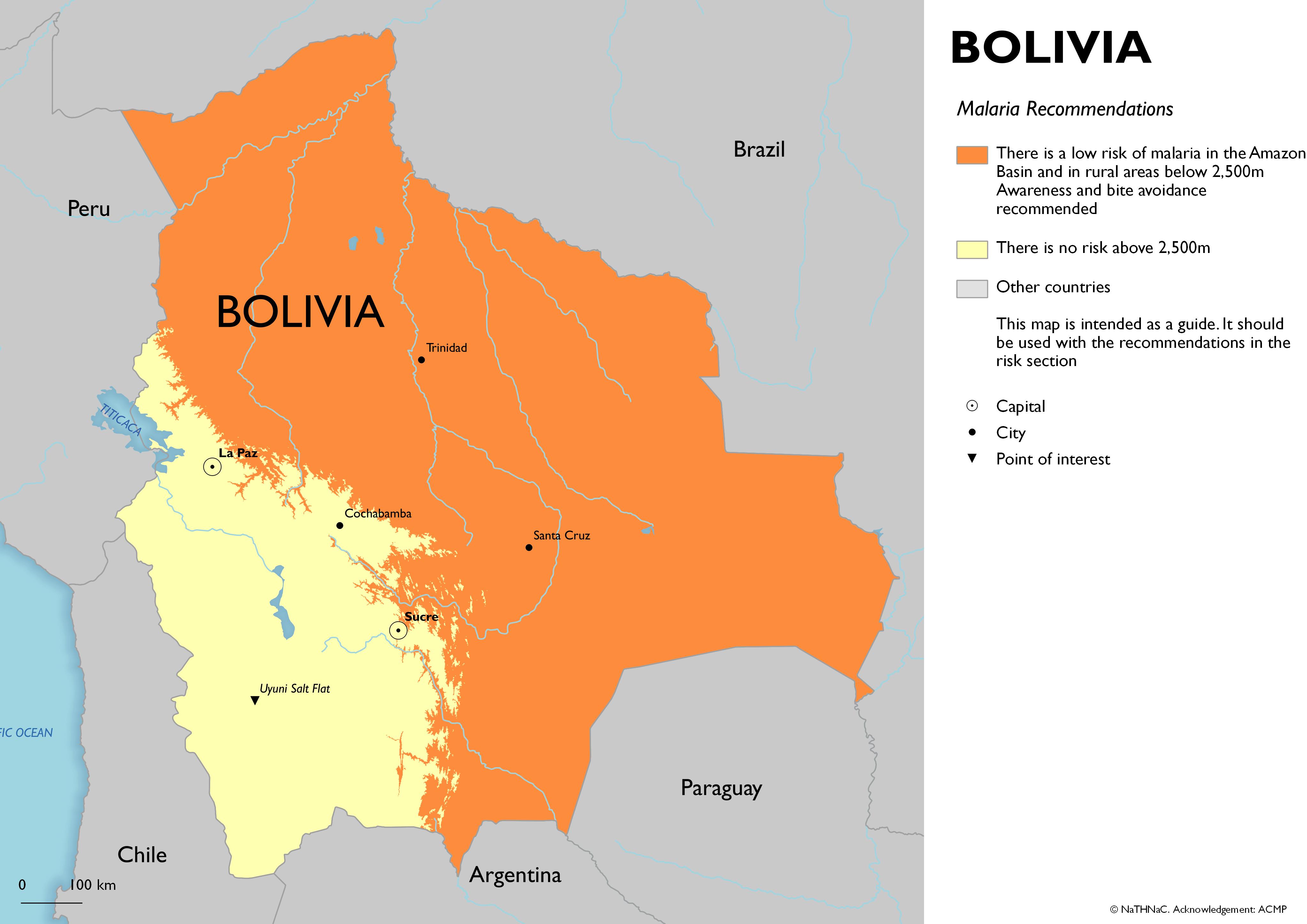NaTHNaC Bolivia - Bolivia cities map