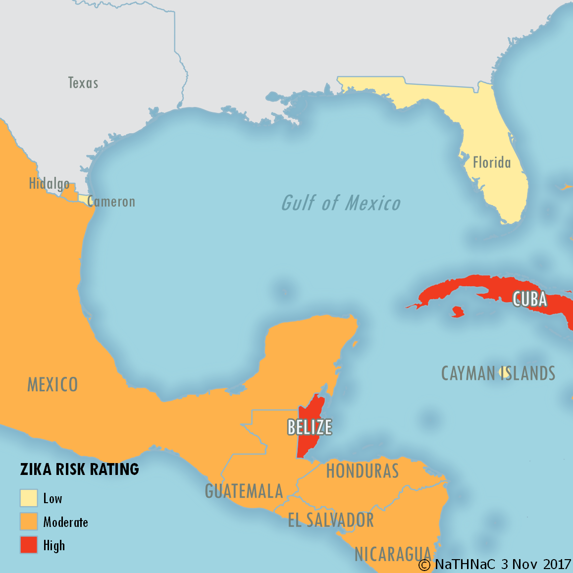 Zika Risk Gulf of Mexico
