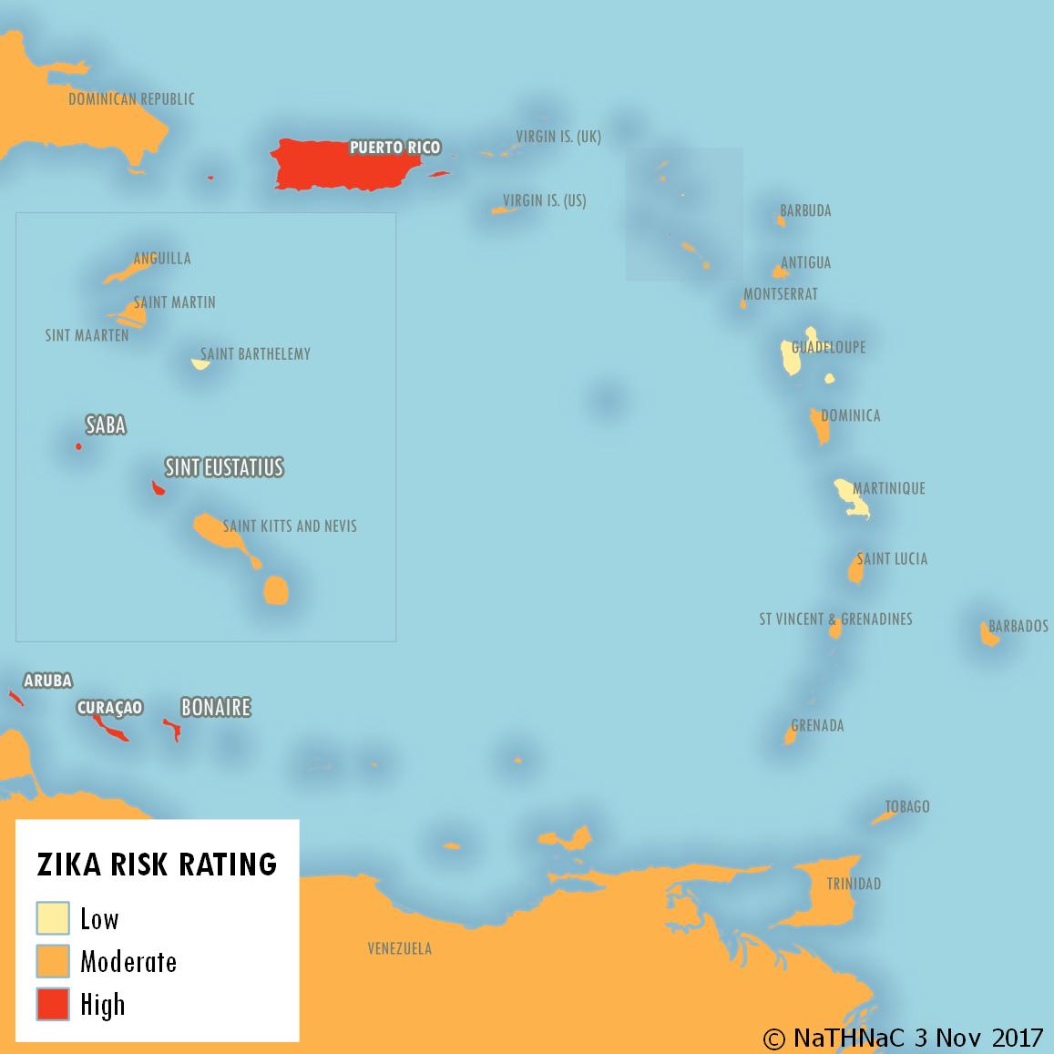 Zika Risk Caribbean Islands