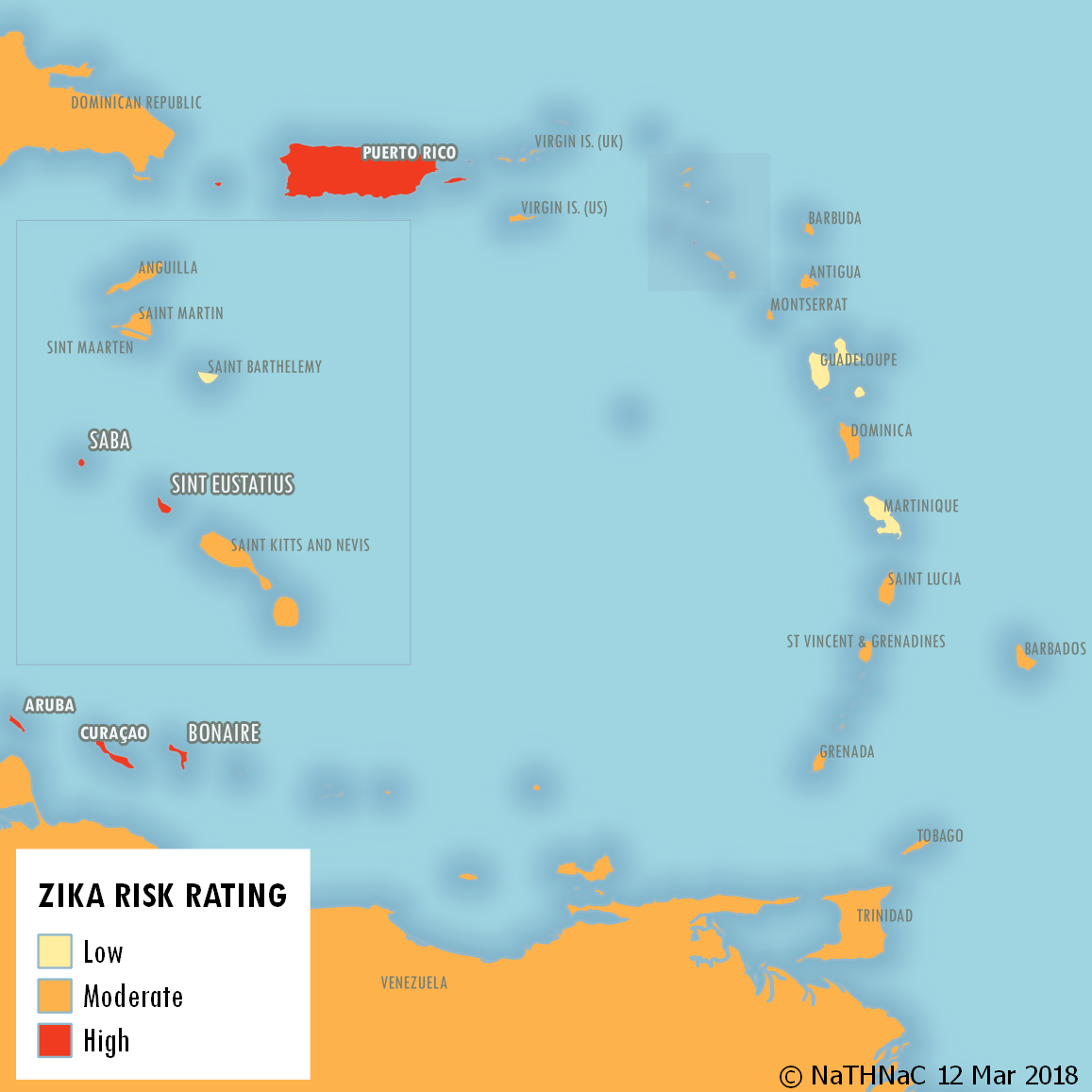 Zika Risk Caribbean Islands