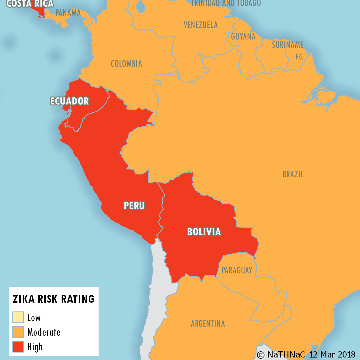 Zika Risk South America