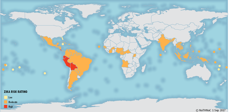 Zika Risk World Overview